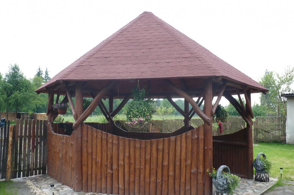 Altana, huśtawka i inne meble ogrodow z bali oraz sprzedaż drewna