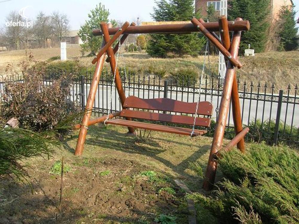 HUŚTAWKA OGRODOWA drewniana Węglinek 58a • Oferiapl