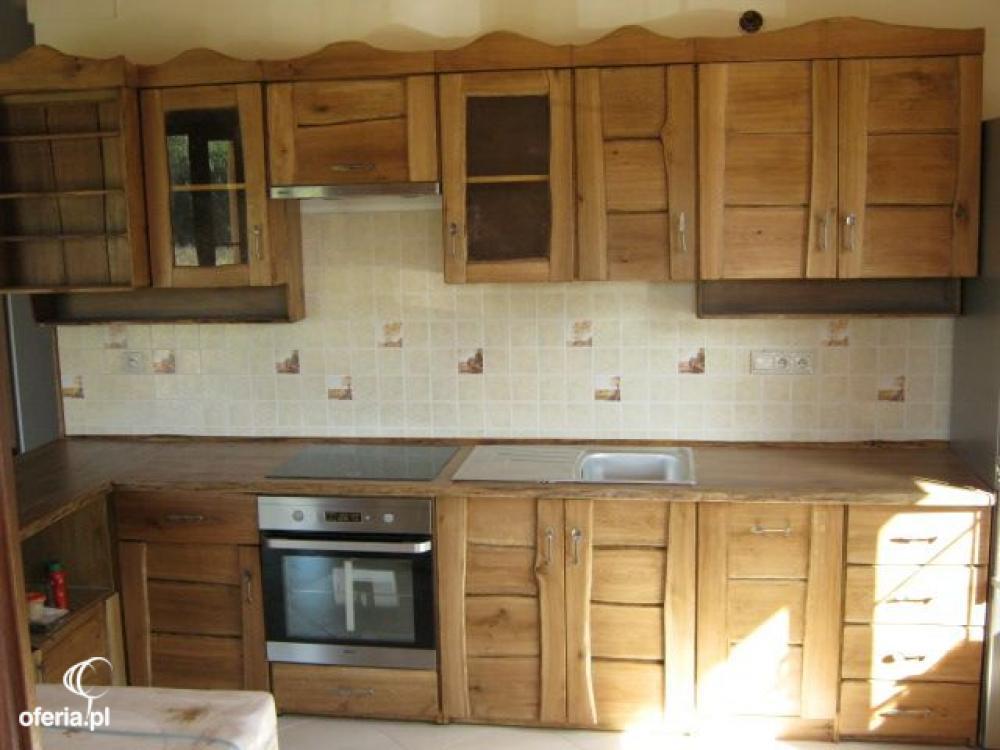 Meble kuchenne rustykalne,retro, wiejskie z drewna Kowary   -> Kuchnie Drewniane Rustykalne