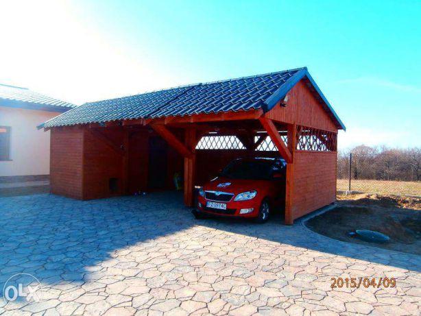 Wiata Garażowa Garaż Drewniany Z Płyt Betonowych Smolec Wrocław