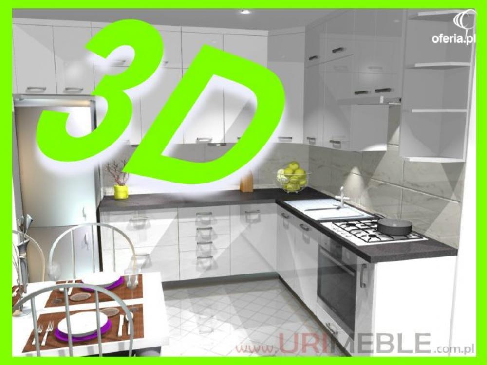99 z� za projekt kuchni 3d aranżacja mebli projektowanie
