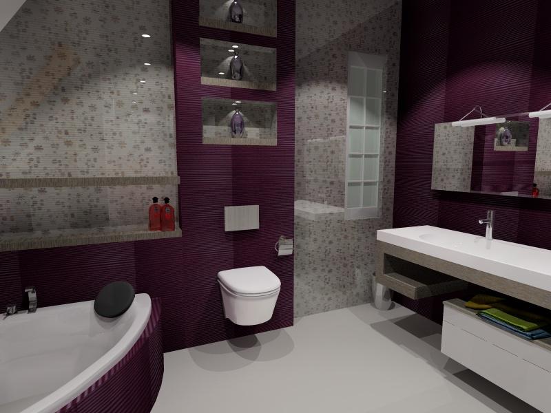Projekt łazienki 3 Wersje 3d Promocja Oferiapl
