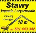 Staw kopanie, czyszczenie - Kopanie stawu Łochowo i okolice