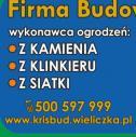 Wykonawca ogrodzeń - Firma Budowlano Usługowa KRISBUD KRAKÓW Wieliczka i okolice