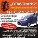 Tanio,szybko,bezpiecznie - BTW-TRANS Licencjonowany Przewóz Osób Ostrowice i okolice
