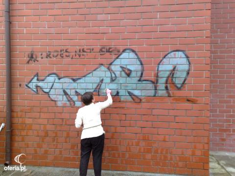 Usuwanie graffiti zmywanie wszystkich zanieczyszce - Graffiti leroy merlin behang ...