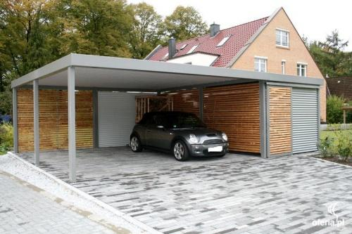 Carport stalowy z magazynkiem wiata jelenia g ra for Car port pl