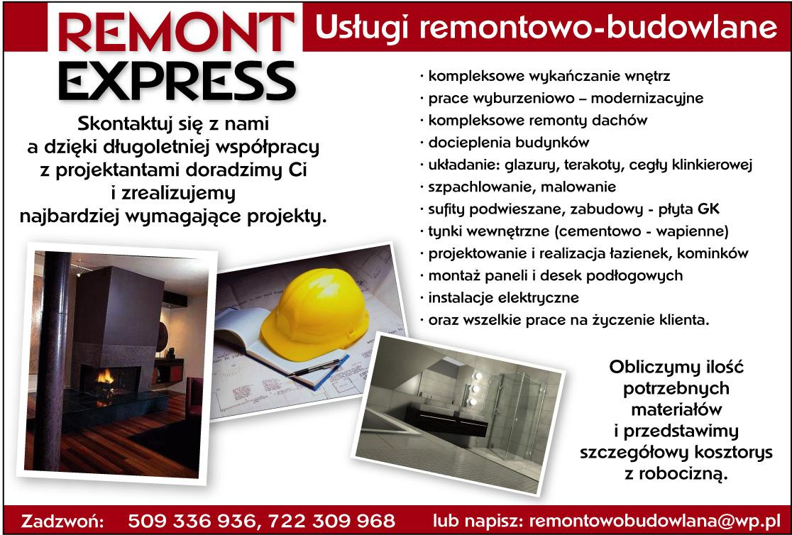 Remont Expres Usługi Remontwo Budowlane Remont Express