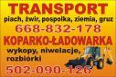 Koparko-ładowarka sprzedaż kruszyw Błonie i okolic