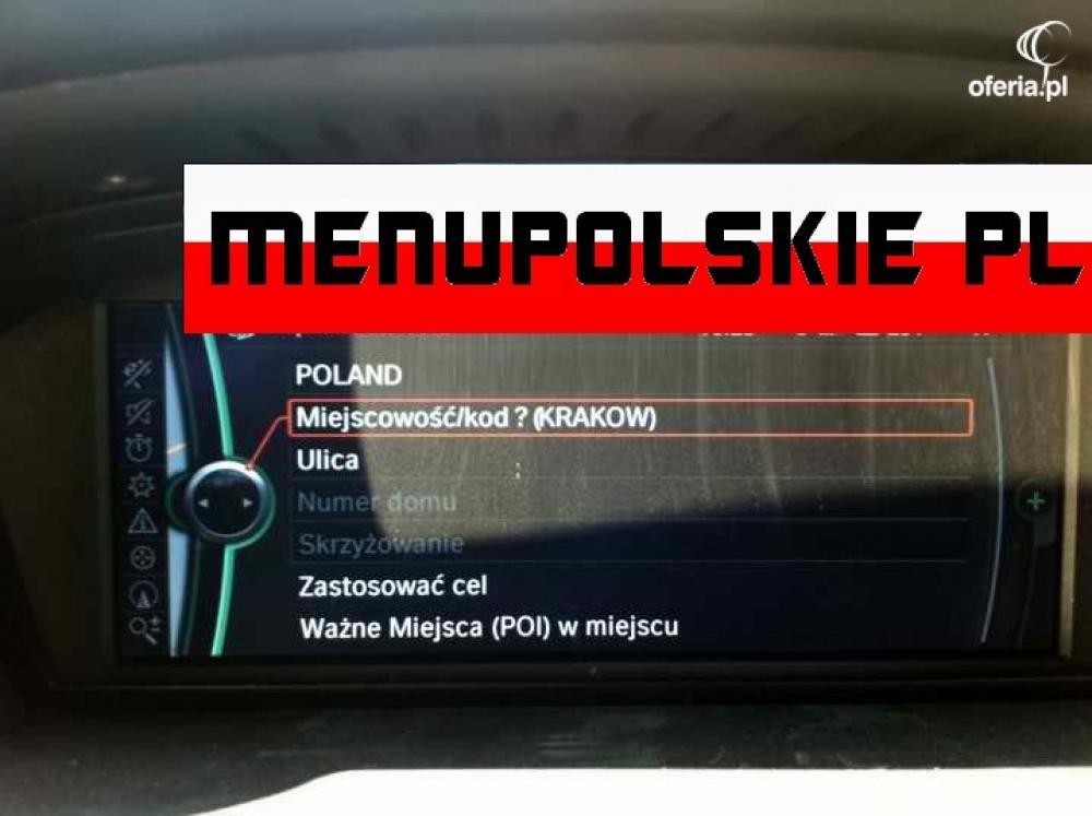 Polskie Menu Bmw Professional Mapa Nawigacja F01 Oferia Pl