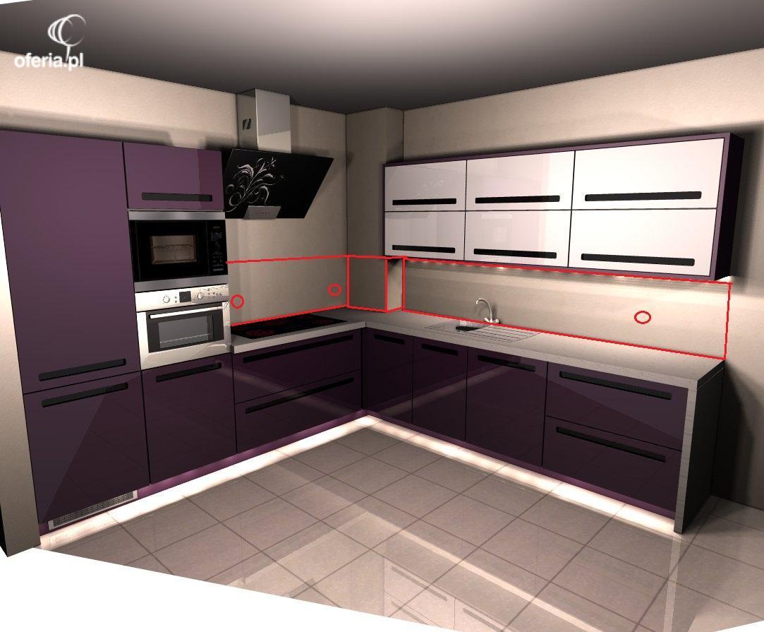 Szkło na ścianę w kuchni (LACOBEL Biały lub z fototapetą   -> Kuchnia Vox Cena