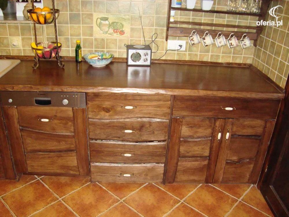 meble kuchenne rustykalne drewniane kowary � oferiapl