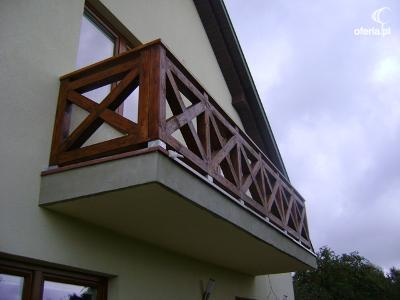 Drewniana Barierkabalustrada Tarasu Warszawachotomów